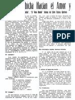 Tomando La Chicha Hacian El Amor y Fraguaban Revoluciones Nuestros Abuelos Revista Centenaria Chiclayo 1935