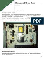 31. Reemplazo NCP1251 en Fuente LCD Sanyo Noblex