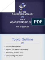 Topic 3 (Weathering of Soils)