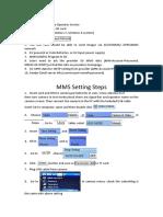 3G MMS GPRS SMS Setting Instruction