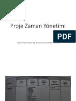 Proje Zaman Yönetimi