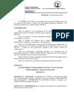 Res. 240-12 Reglamento de Evaluación y Promoción