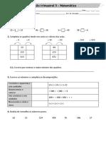 top matemática 2º ano avaliação trimestral 3º periodo