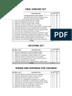 Set List E - Katalog Aesculap