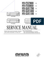 AIWA HV-FX7800 Service Manual