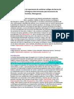 Demostrar El Valor y La Importancia de Combinar Códigos de Barras de ADN y Caracteres Morfológicos Discriminantes Para Taxonomía de Polistomas