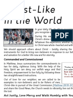 Christ-Like in the World