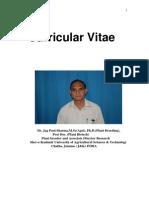 Bio Data/ Curricular Vitae of Dr. JP Sharma