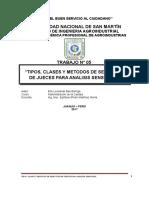 Tipos, Clases y Metodos de Selección de Jueces Para Analisis Sensorial
