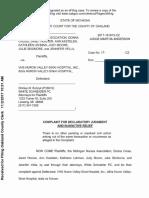 Huron Valley Nurse Lawsuit
