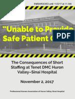 Huron Valley Nurse Report