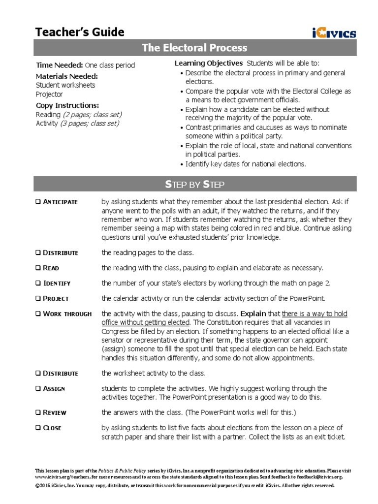 worksheet Electoral College Worksheet electoral process icivics curriculum united states presidential nominating convention college states