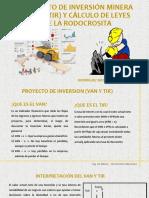 Proyecto de Inversión Minera Van y Tir y Cálculo de Leyes de La Rodocrosita