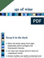 Storage of Wine