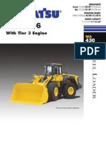 Wa430-6 Tier 3 Sales Brochure Aess713-01 Cargador s. Llantas 200-250