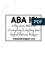 ABA 101 Handouts the Autism Helper
