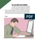 Cómo Crear Un Plan de Trabajo
