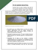Sulfato de Amonio Industrial