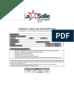 LA SALLE | GROWUP | FORMULARIOS | FORMULARIO DE INSCRIPCION