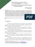PRINCIPAIS INDICADORES ECONÔMICOS E SOCIAIS DO MUNICÍPIO DE INÁCIO MARTINS-PR.