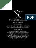 Salvatores Bar at Playboy Club London-- Bar Menu, Vol. 3 (13 Pp.)