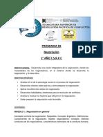 Programa Negociación Tsrpc