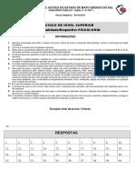 Gabarito Provisorio Tecnico de Nivel Superior Psicologia