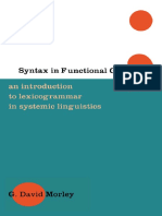 [G David Morley] Syntax in Functional Grammar