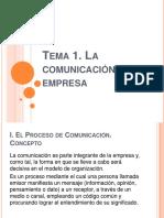 Unidad 1. La Comunicación Oral de La Empresa