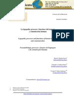 La Logopedia, Procesos y Funciones Del Lenguaje