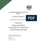 Práctica No6 Teoria electromagnetica fi UNAM