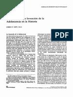 Joseph Kett Descubrimiento e Invención de la Adolescencia (1993)