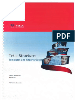 Tekla Structures - Templates and Reports Guide