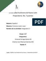 Integradora 3 Español 1