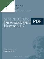 SIMPLICIUS On Aristotle On the Heavens 3.1-7