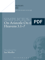 SIMPLICIUS On Aristotle On the Heavens 3.1-7
