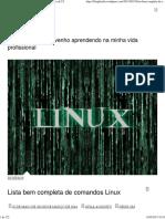 Lista Bem Completa de Comandos Linux – Anotações de T