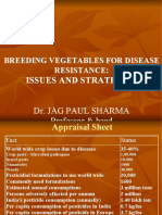 Breeding Vegetable by Dr Jag Paul Sharma Assoc. Director
