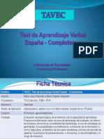 (TAVEC) Test de Aprendizaje Verbal España-Complutense