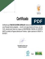 Certificado Tiago