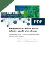 Planejamento e Conflitos Urbanos