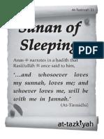 sunan of sleeping
