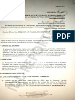 informe del fiscal José Domingo Pérez