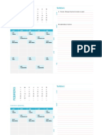 Planilla de Excel Para Calendario