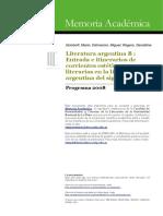 Corrientes Estéticas y Literarias en Argentina Del Siglo XX