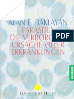 Baklayan, Alan - Parasiten - Verborgene Ursache Vieler Erkrankungen (1999, 289 S., Text)