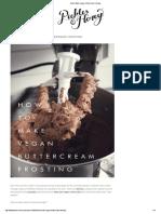 How to Make Vegan Buttercream Frosting