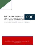 Rol Del Sector Publico en Las Plataformas Logisticas