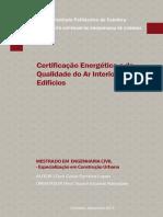 MSc - Certificação Energética e Da Qualidade Do Ar Interior Dos Edifícios