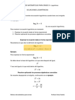 IREFUERZO ICFES - 9no Ecuaciones Logaritmicas